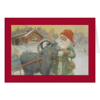 Santa y su trineo felicitacion