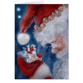 Santa y tarjeta del día de fiesta del Faery