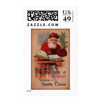 Santa y tomo pesado sello postal