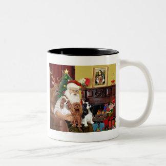 Santa y tres Cavaliers Tazas De Café