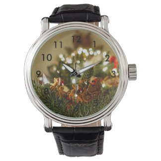 Santa y trineo relojes de pulsera