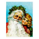 Santa y yo postal