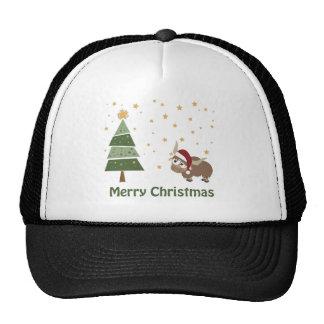 Santa Yak Christmas Scene Mesh Hats