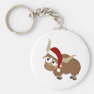 Santa Yak Keychain
