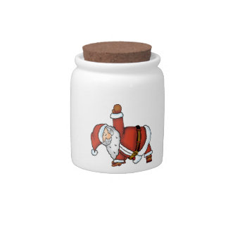 Santa Yoga - Christmas Design with a Yoga Santa Candy Jars