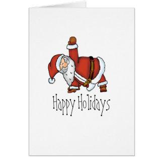 Santa Yoga - Christmas Design with a Yoga Santa Card