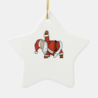 Santa Yoga - Christmas Design with a Yoga Santa Ceramic Ornament