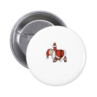 Santa Yoga - Christmas Design with a Yoga Santa Pinback Button