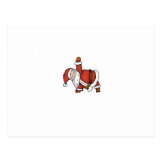 Santa Yoga - Christmas Design with a Yoga Santa Postcard