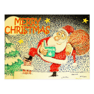 Santa Yoga Postcard
