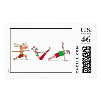 Santa Yoga Stamps