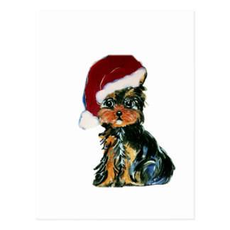 Santa Yorkie Poo Postcard