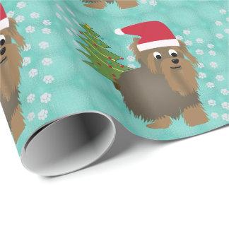 Santa Yorky Wrapping Paper