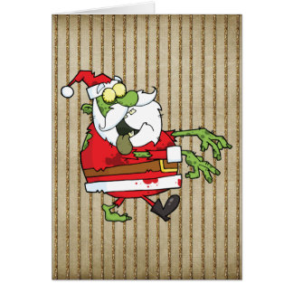 Santa Zombie Greeting Card