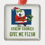 Santa Zombie Cookies Christmas Ornament