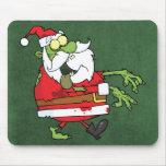 Santa Zombie Mouse Pad