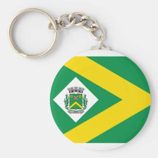 Santabarbaradoeste Saopaulo Brasil, Brazil flag Key Chains