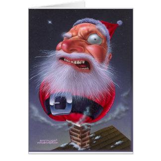 santaclause_chimney greeting card