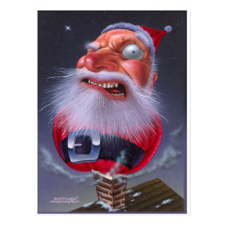 santaclause_chimney postcards