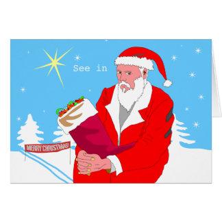 Santaevsky Christmas Note Card