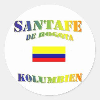 Santafe de Bogota Classic Round Sticker