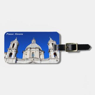 Santagnese in Agone Church in Piazza Navona, Rome Bag Tag