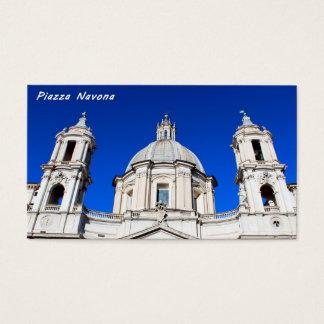 Santagnese in Agone Church in Piazza Navona, Rome Business Card