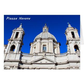 Santagnese in Agone Church in Piazza Navona, Rome Card