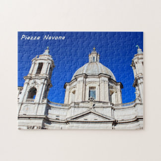 Santagnese in Agone Church in Piazza Navona, Rome Jigsaw Puzzle