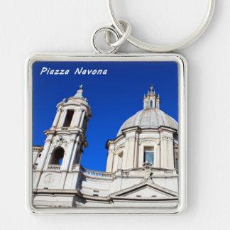 Santagnese in Agone Church in Piazza Navona, Rome Keychain