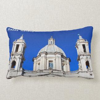 Santagnese in Agone Church in Piazza Navona, Rome Lumbar Pillow