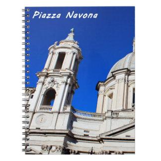 Santagnese in Agone Church in Piazza Navona, Rome Notebook