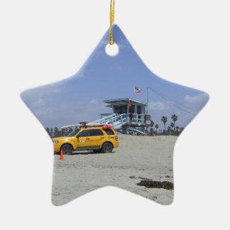 SantaMonica Double-Sided Star Ceramic Christmas Ornament
