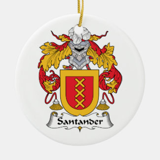 Santander Family Crest Ceramic Ornament