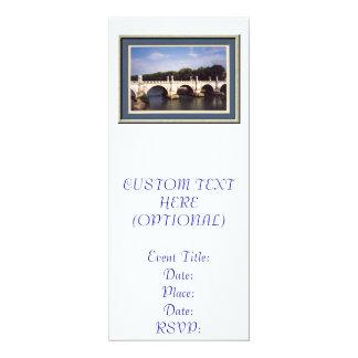 Sant'Angelo Bridge in Rome, Italy 4x9.25 Paper Invitation Card