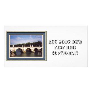 Sant'Angelo Bridge in Rome, Italy Card