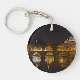 Sant'Angelo Bridge over the Tiber River Keychain