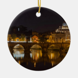 Sant'Angelo Bridge over the Tiber River Ornaments