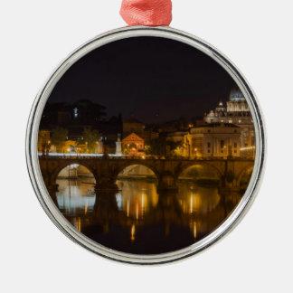 Sant'Angelo Bridge over the Tiber River Christmas Ornament