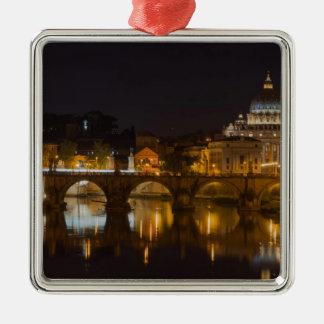 Sant'Angelo Bridge over the Tiber River Christmas Ornaments