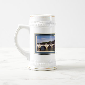 Sant'Angelo Bridge Rome framed Beer Stein