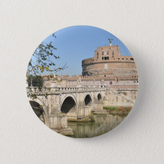 Sant'Angelo Castle in Rome, Italy Pinback Button
