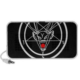Santanist Pentagram Christmas Design iPhone Speakers