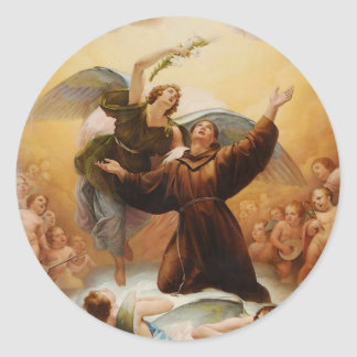 Sant'Antonio in Gloria by Odorico Politi Classic Round Sticker