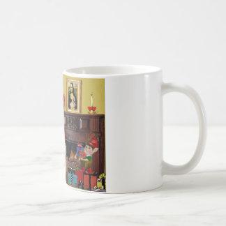 Santa's 2 Cairn Terriers Coffee Mug