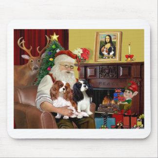 Santa's 2 Cavalier Kings Charles Mouse Pad
