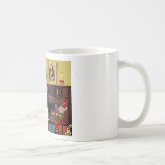 Santa's 2 Cavalier Kings Charles Classic White Coffee Mug