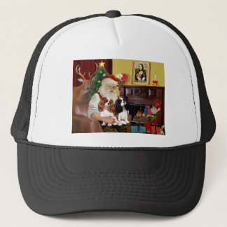 Santa's 2 Cavalier Kings Charles Trucker Hat