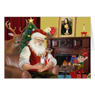 Santa's 2 Chihuahuas Greeting Card