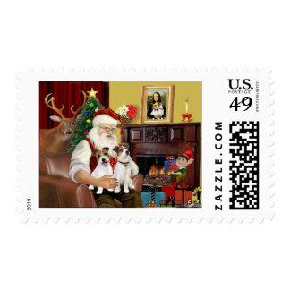 Santa's 2 Jack Russell's Postage